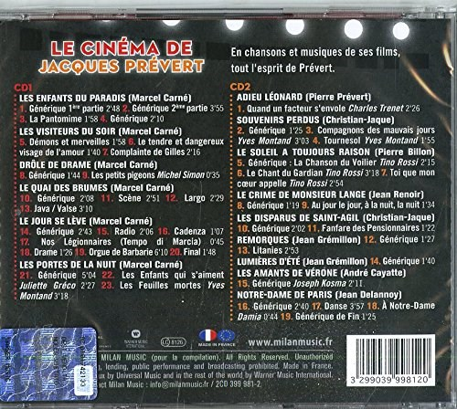 VARIOUS ARTISTS - Le Cinema de Jacques Prevert (2CD)
