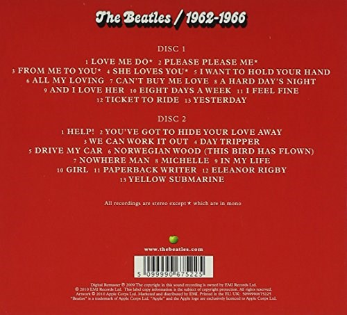 The Beatles The Beatles 1962 1966 2cd
