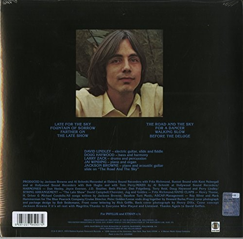 JACKSON BROWNE - Late For The Sky (180 Gram Vinyl) - 2LP