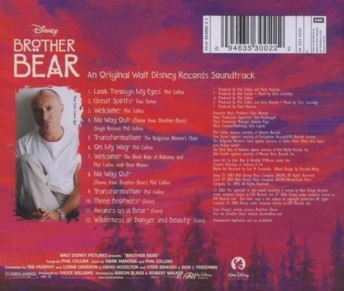 Soundtrack Disney Brother Bear