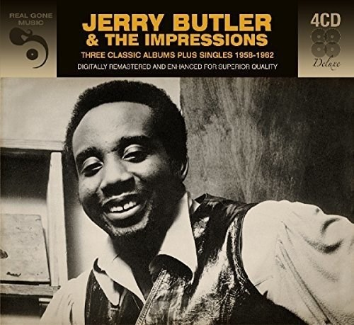 JERRY BUTLER - 3 Classic Albums Plus Singles 1958-1962 (4CD)