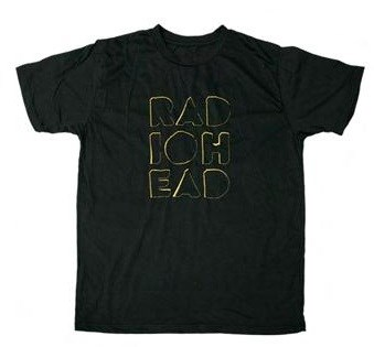 RADIOHEAD - EMBROIDERED  LOGO BLACK T - חולצת