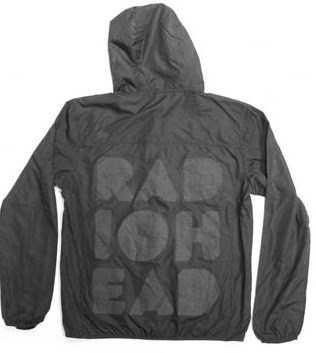 RADIOHEAD - CUT OUT LOGO  WIND JACKET - מעיל רוח