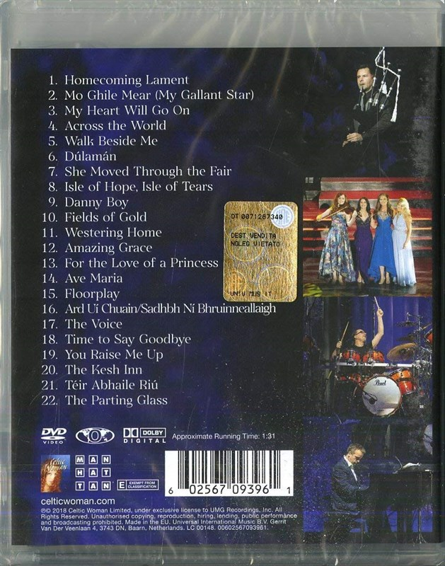 CELTIC WOMAN - Homecoming - Live From Ireland - DVD