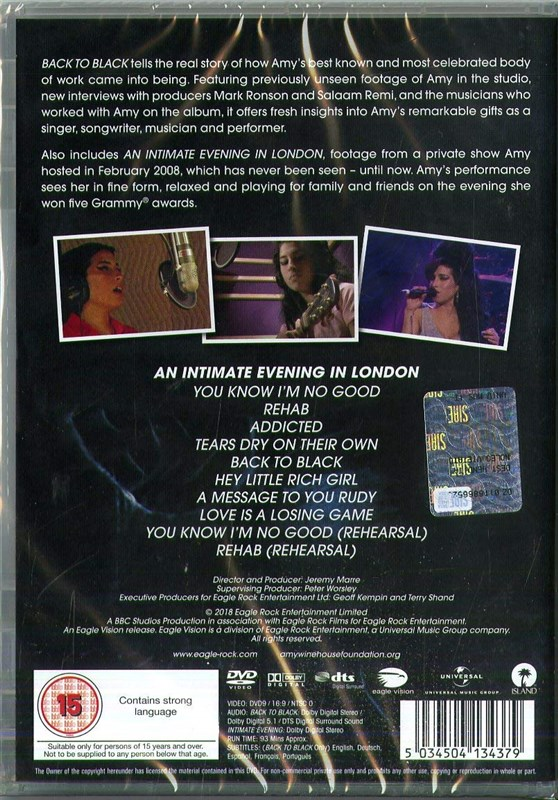 AMY WINEHOUSE - Back To Black: The Real Story Behind The Modern Classic - DVD