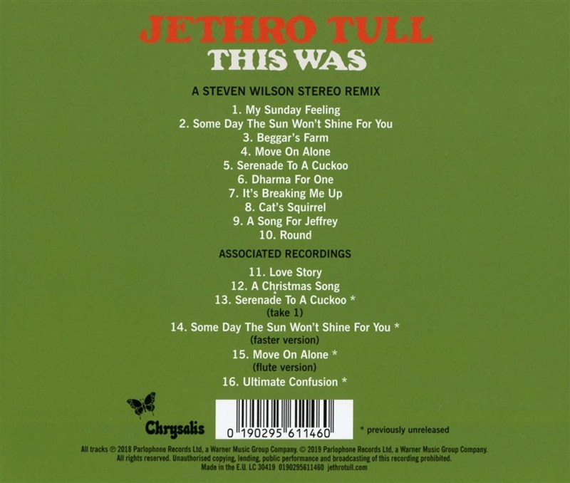 JETHRO TULL - This Was (50th Anniversary Edition) [Steven Wilson Stereo Remix]
