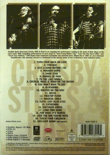 CROSBY,STILLS AND NASH - Daylight Again - DVD