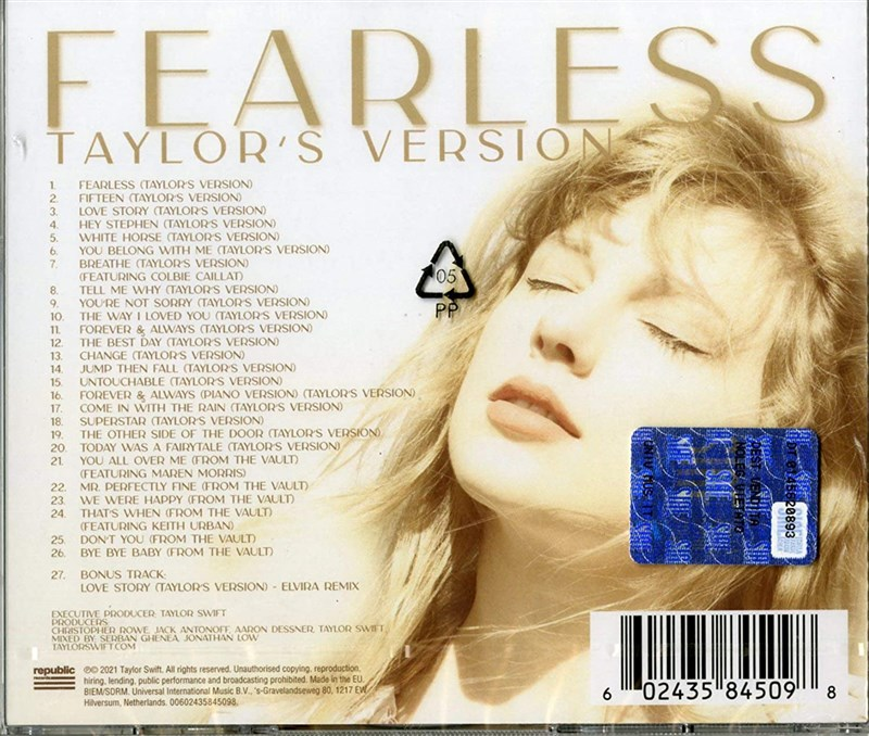 TAYLOR SWIFT - Fearless (Taylor's Version) [2CD]