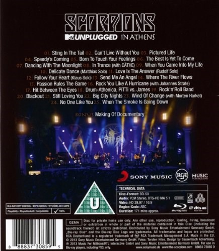 THE SCORPIONS - MTV Unplugged in Athens [Blu-ray]