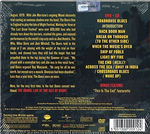 THE DOORS - Live at The Isle of Wight Festival 1970 [DVD/CD]