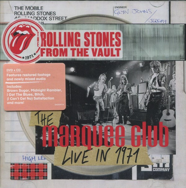 THE ROLLING STONES - From The Vault: The Marquee Club Live In 1971 [DVD+CD]
