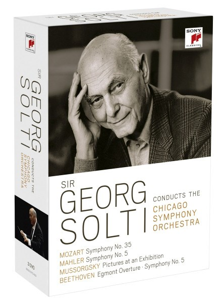 SIR GEORG SOLTI - Sir Georg Solti Conducts The Chicago Symphony Orchestra - 3DVD BOX SET