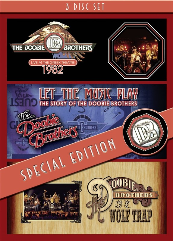 THE DOOBIE BROTHERS - Live At The Greek Theatre / Let The Music Play / Live At Wolf Trap - 3DVD
