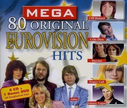 VARIOUS ARTISTS - Mega 80 Original Eurovision Hits [4CD+ DVD]